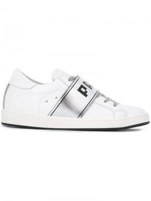 Кроссовки на шнуровке Paris Philippe Model. Цвет: белый