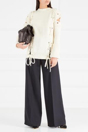 Шерстяные брюки Alexander McQueen. Цвет: черный