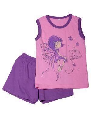 Пижама Flip. Цвет: розовый, сиреневый