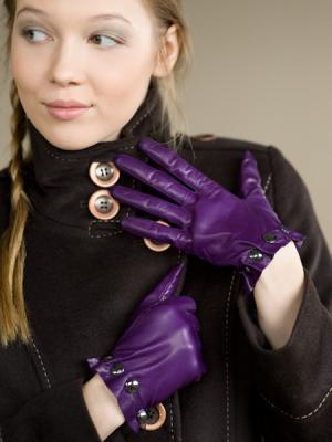Перчатки Eleganse. Цвет: фиолетовый