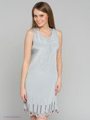 Платье TOPSANDTOPS. Цвет: светло-серый