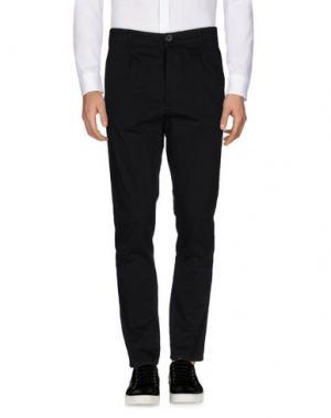 Повседневные брюки 1° GENITO. Цвет: черный