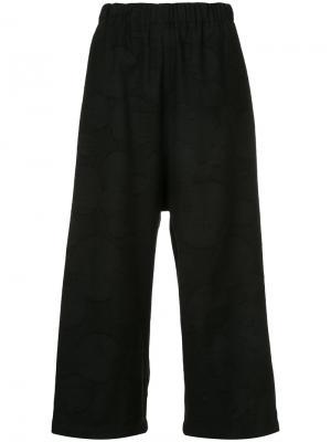 Укороченные широкие брюки Uma Wang. Цвет: чёрный