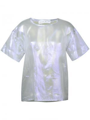 Прозрачная футболка Sue Wanda Nylon. Цвет: металлический