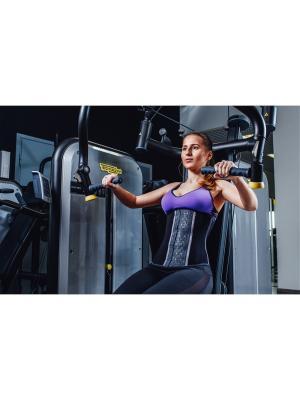 Фитнес корсет Waist trainer Siluet. Цвет: черный