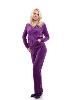 Домашний костюм Dream World. Цвет: фиолетовый