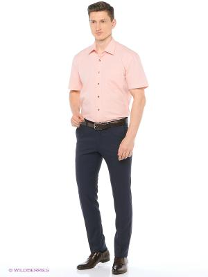 Рубашка мужская с коротким рукавом Mr. Marten. Цвет: персиковый