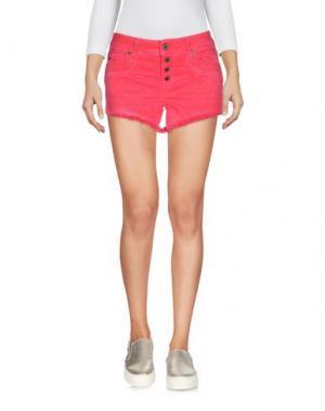 Джинсовые шорты JUST CAVALLI. Цвет: красный