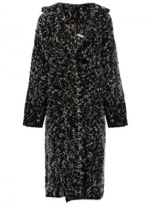 Пальто-кардиган крупной вязки Boboutic. Цвет: чёрный
