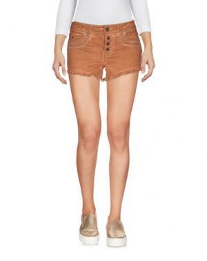 Джинсовые шорты JUST CAVALLI. Цвет: коричневый