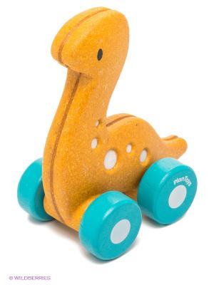 Машина динозавр PLAN TOYS. Цвет: желтый