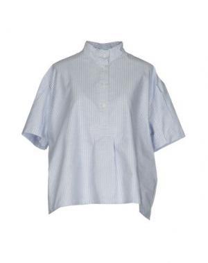 Блузка THE SLEEP SHIRT. Цвет: небесно-голубой