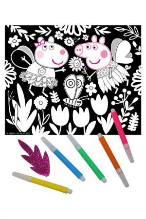 Аппликация и раскраска Peppa Pig. Цвет: none