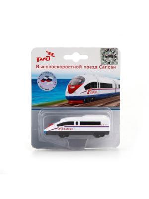Модель Технопарк металлическая метро/сапсан/локомотив 7,5см. Цвет: красный, серый