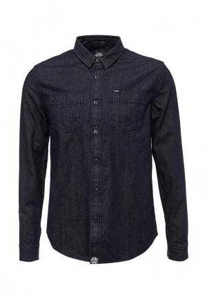 Рубашка джинсовая Superdry. Цвет: синий