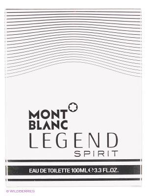 Туалетная вода Montblanc LEGEND SPIRIT FOR MEN EDT SPRAY 100 ML. Цвет: прозрачный