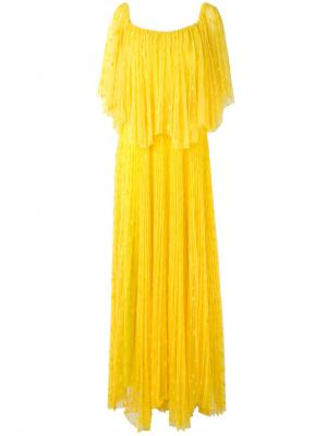 Платье Sarabi Maria Lucia Hohan. Цвет: жёлтый и оранжевый