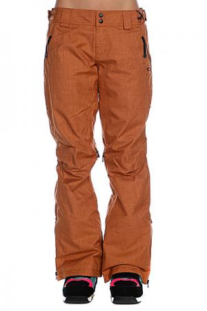 Штаны сноубордические женские  Mfr Pants Cognac Oakley. Цвет: коричневый