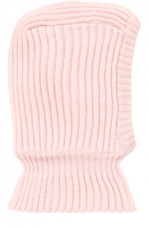 Шапка-балаклава из шерсти Il Trenino. Цвет: розовый