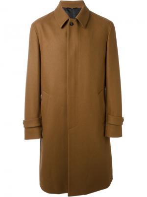 Классическое пальто Hevo. Цвет: коричневый