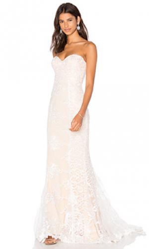 Вечернее платье angelique Elle Zeitoune. Цвет: беж