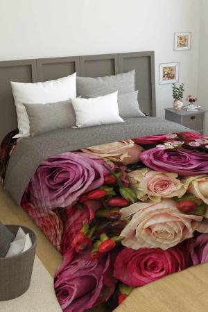 Покрывало Букет роз Сирень. Цвет: розовый, желтый