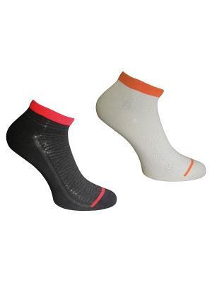 Носки 2 пары Master Socks. Цвет: черный, бежевый, красный, оранжевый