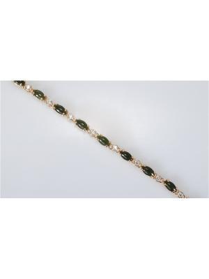 Браслет Нефрит Lotus Jewelry. Цвет: зеленый