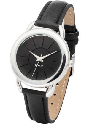 Наручные часы (черный/серебристый) bonprix. Цвет: черный/серебристый