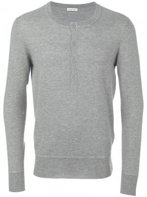 Buttoned jumper Tomas Maier. Цвет: серый