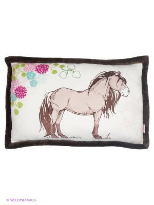 Подушка  Лошадь NICI. Цвет: бежевый, темно-коричневый