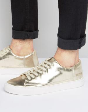 Systvm Золотистые низкие кроссовки. Цвет: золотой