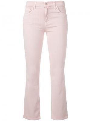 Укороченные расклешенные джинсы J Brand. Цвет: розовый и фиолетовый