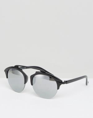 7X Круглые солнцезащитные очки. Цвет: черный