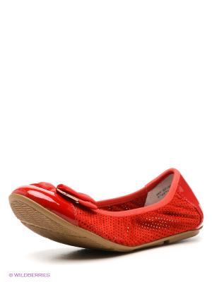 Балетки El Tempo. Цвет: красный