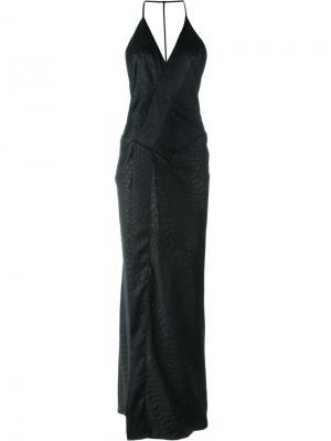Платье с открытой спиной 161 Damask A.F.Vandevorst. Цвет: чёрный