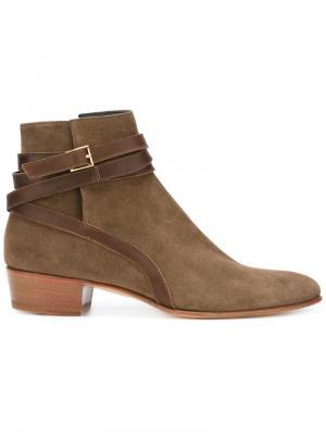 Ботинки с пряжками Louis Leeman. Цвет: коричневый