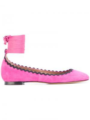 Балетки Daria Tabitha Simmons. Цвет: розовый и фиолетовый