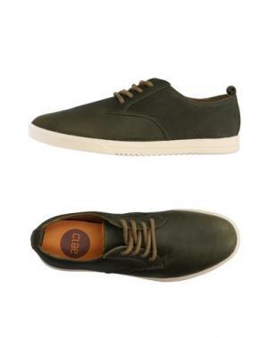 Низкие кеды и кроссовки CLAE. Цвет: зеленый-милитари
