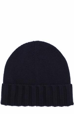 Кашемировая шапка бини Ermenegildo Zegna. Цвет: темно-синий