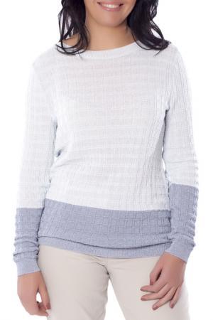 Полуприлегающий пуловер с длинными рукавами Woolhouse. Цвет: голубой