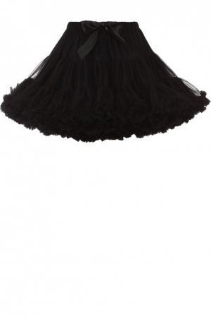 Многоярусная пышная мини-юбка Angel's Face. Цвет: черный