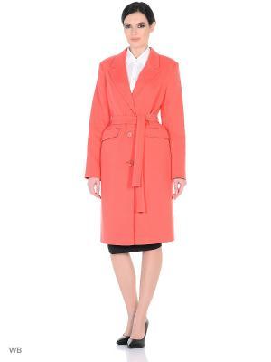 Пальто демисезонное Кристи XP-GROUP. Цвет: коралловый