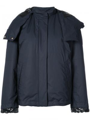 Куртка с большим капюшоном Jil Sander. Цвет: синий