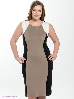 Платье Fiorella Rubino. Цвет: черный, бежевый, белый