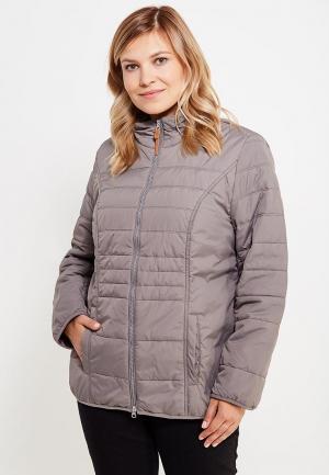 Куртка утепленная Ulla Popken. Цвет: серый