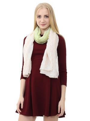Платок Infiniti. Цвет: зеленый, белый, розовый