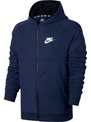 Толстовка M NSW HOODIE FZ AV15 KNIT Nike. Цвет: синий