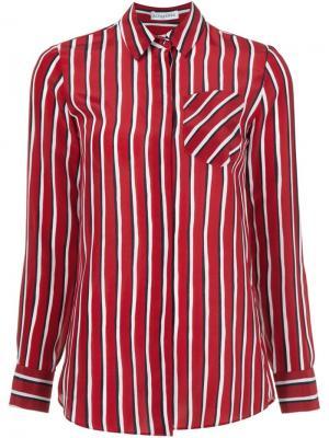 Рубашка в полоску Chika Altuzarra. Цвет: красный