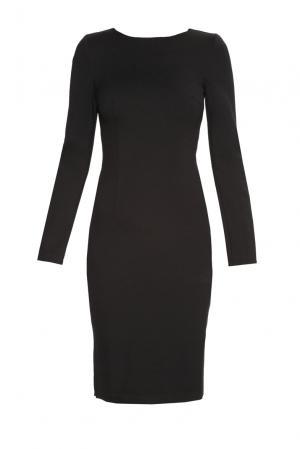 Трикотажное платье из вискозы BR-181736 Burlo. Цвет: черный
